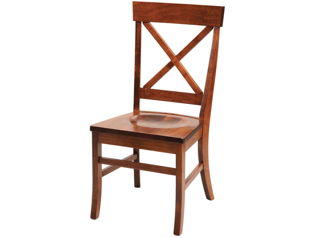 Daniel's Amish Chairs and BarstoolsX-Back Side Chair