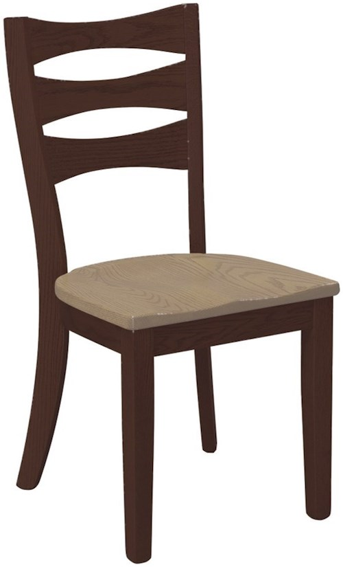 Daniel's Amish Chairs and Barstools Sierra Counter Height Bar Side Chair with Stationary Seat