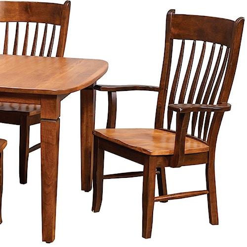 Daniel's Amish Chairs and Barstools Buckeye Arm Chair