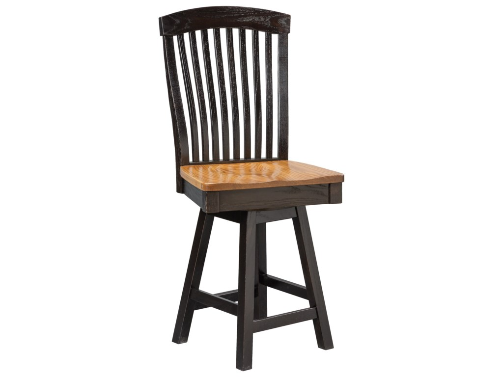 Daniel's Amish Chairs and BarstoolsEmpire Swivel Counter Chair