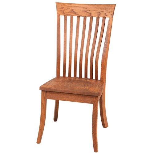 Daniel's Amish Chairs and Barstools Lawrence Lumbar Dining Side Chair