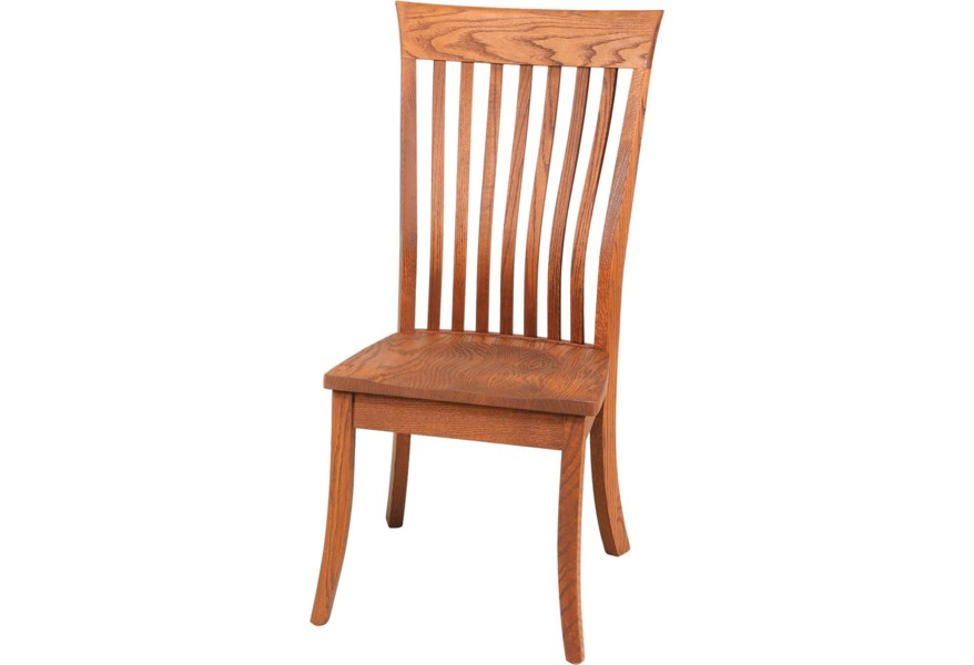Daniel S Amish Chairs And Barstools 13 8401 Lawrence Lumbar Dining Side Chair Gill Brothers Furniture Dining Side Chairs