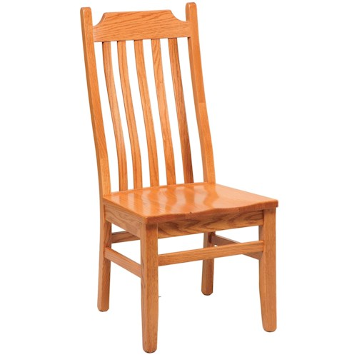 Daniel's Amish Chairs and Barstools Shaker Lumbar Dining Side Chair