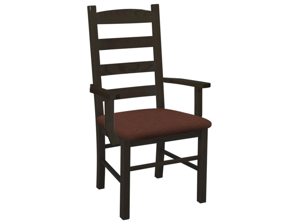 Daniel's Amish Chairs and BarstoolsLadder Back Arm Chair