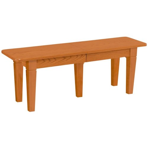 Daniel's Amish Chairs and Barstools Extendable Dining Bench