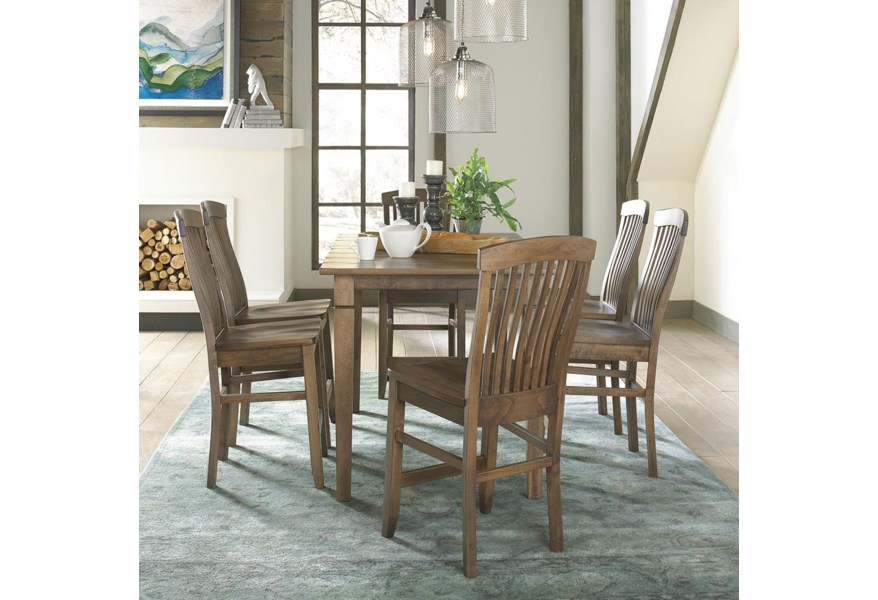Daniel S Amish Middleton Pub Table And Chair Set Belfort Furniture Dining 7 Or More Piece Set