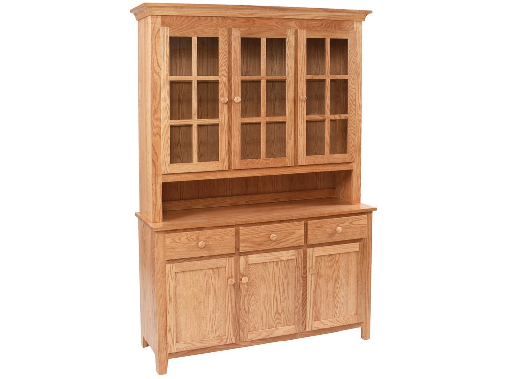 Daniel's Amish Hutch and BuffetsShaker Hutch and Buffet
