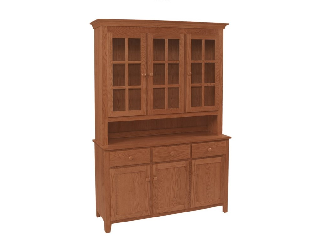 Daniel's Amish Hutch and BuffetsShaker Deluxe Hutch & Buffet