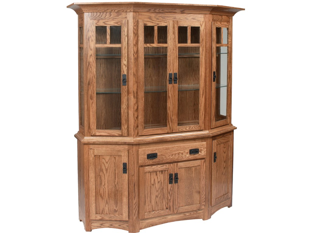 Daniel's Amish Hutch and BuffetsCanted Hutch and Buffet