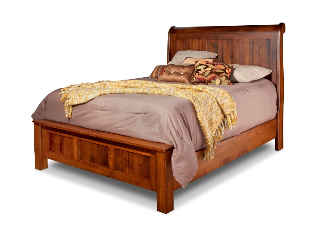 401c665827a1 Daniel s Amish Lewiston Queen Sleigh Bed with Low Footboard ...