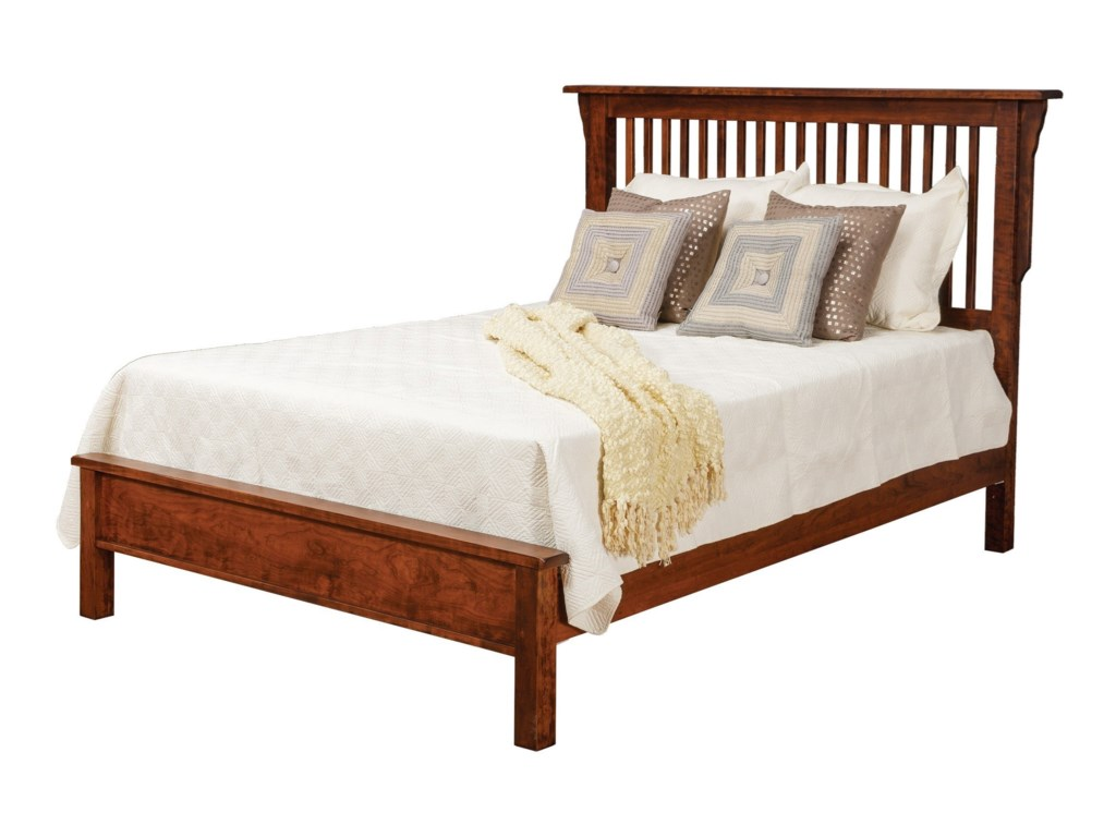 5a7e0dbfd36d Daniel s Amish Lewiston Queen Solid Wood Slat Bed with Low Footboard ...