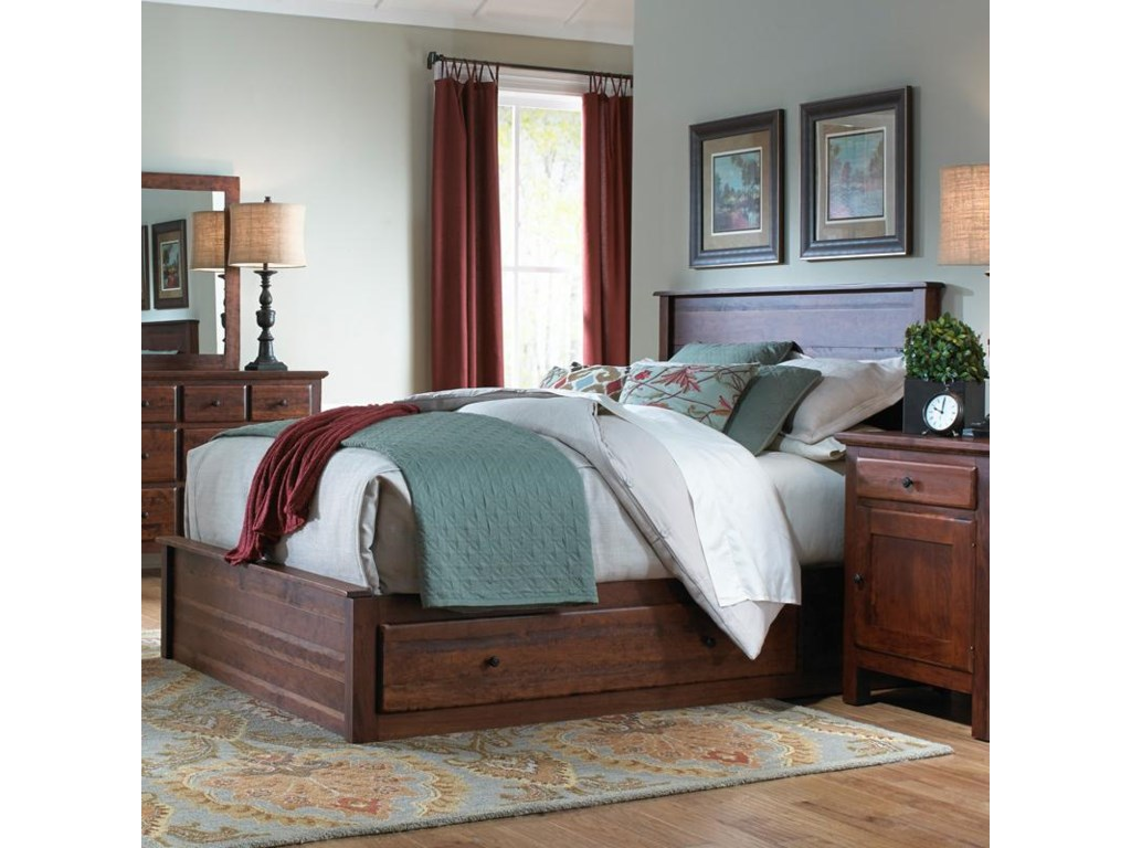 shaker with bedrooms storage antique shop bed beds queen webchest cherry archbold r front drawers first