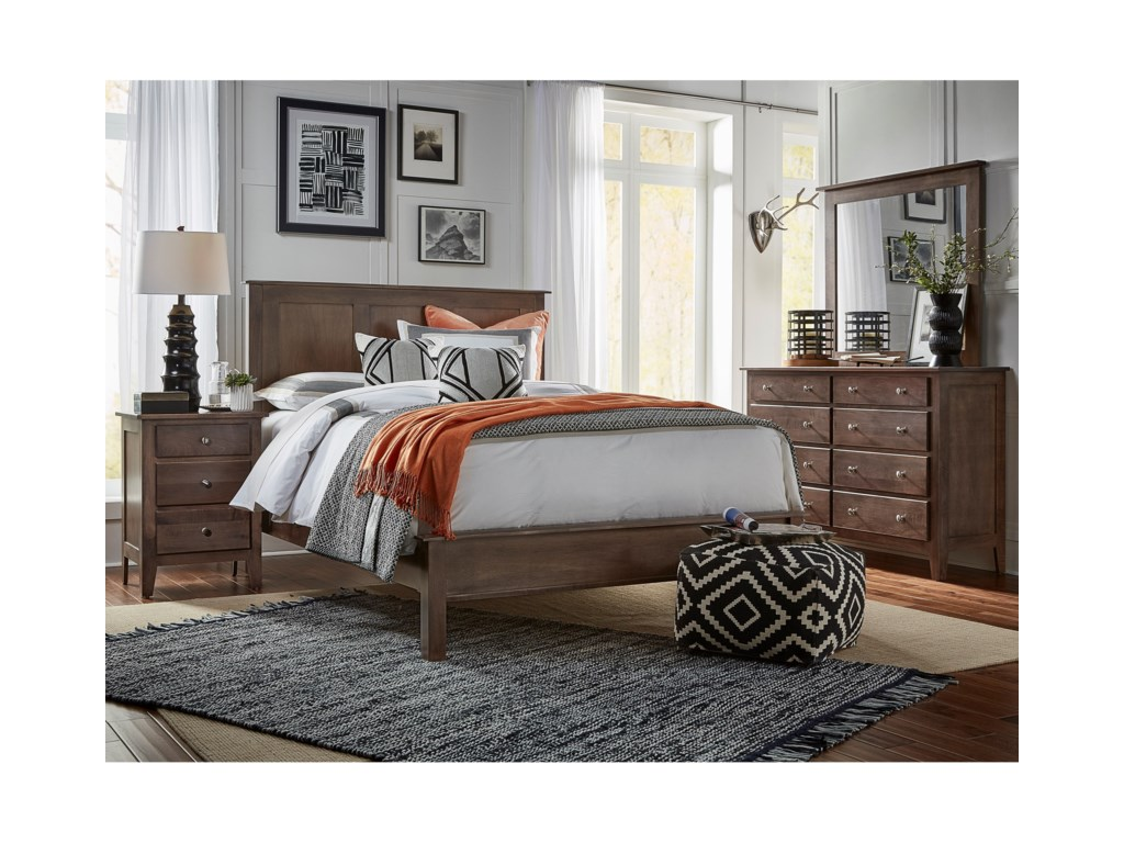 Daniel's Amish MapletonFull Bed with Low Footboard