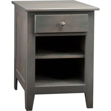 1-Drawer 1-Shelf Nightstand