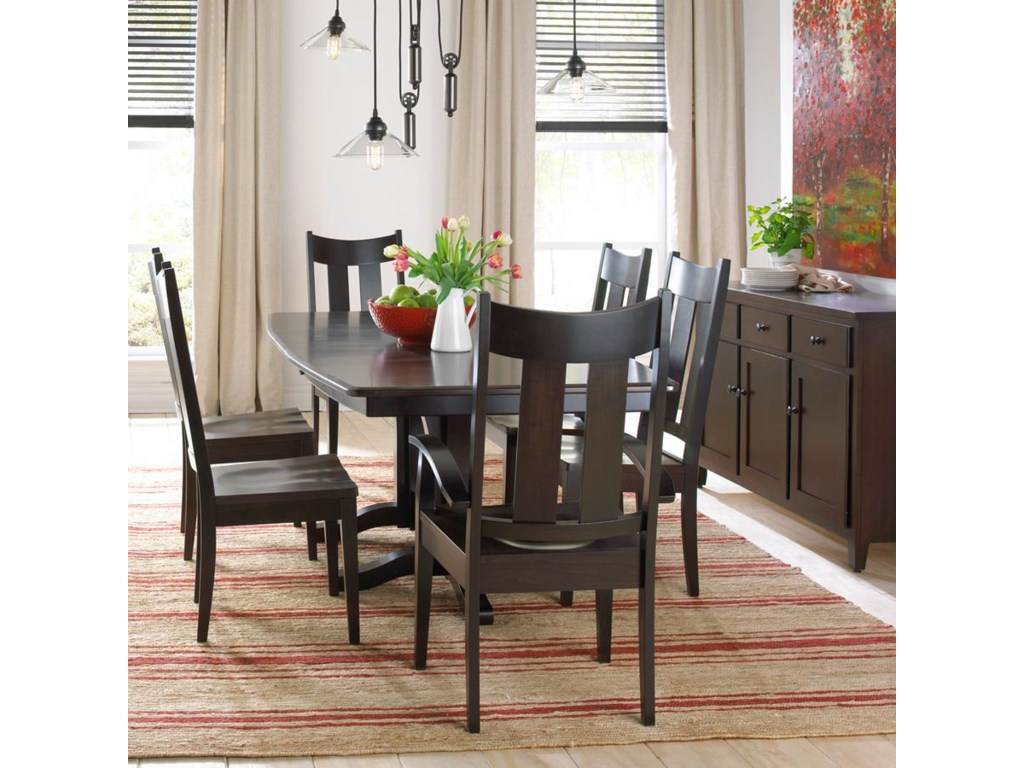 Daniel\'s Amish Millsdale Solid Wood Double Pedestal Dining Table ...