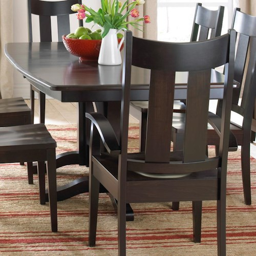 Daniel's Amish Millsdale Solid Wood Double Pedestal Dining Table
