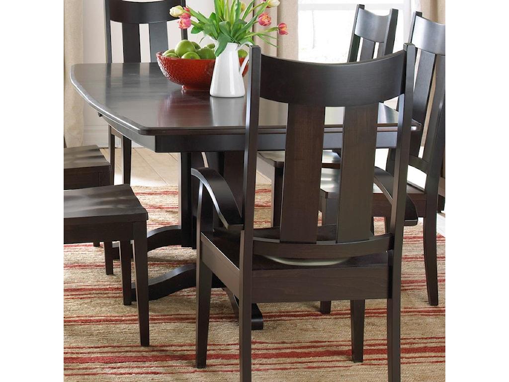 iteminformation w pedestal dining room leaf hooker sorella table kitchen furniture