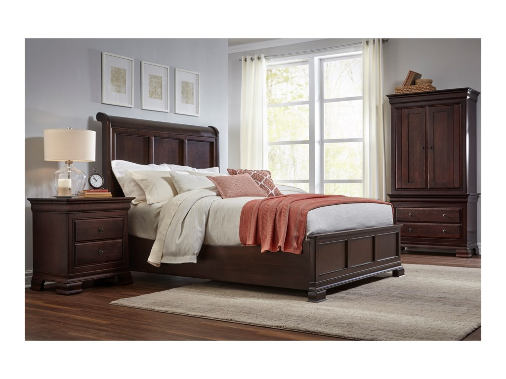 Daniel's Amish Queen Frame Bed