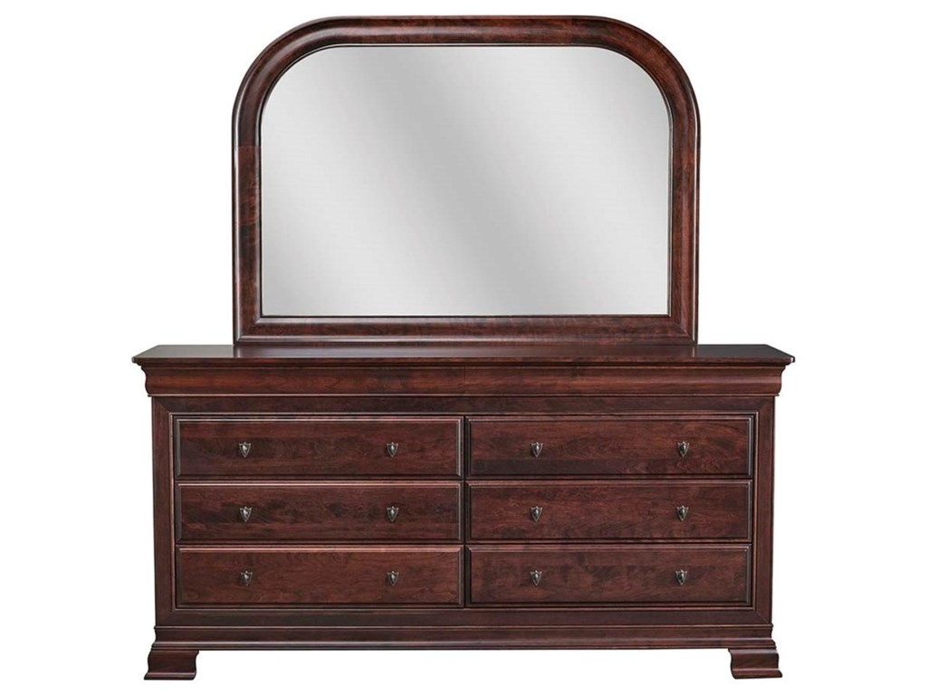 Daniel's Amish Dresser and Mirror Combo