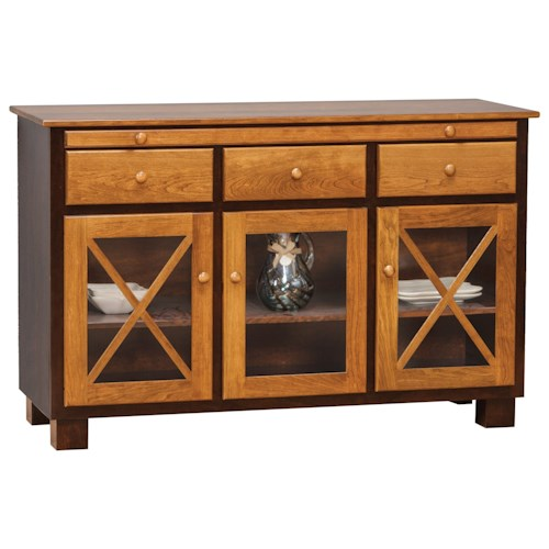 Daniel's Amish Dining Storage Millsdale Server with 3 Doors