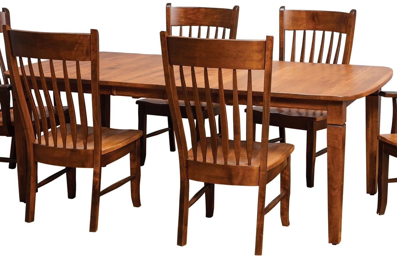 Danielu0027s Amish Tables Distressed Rectangular Dining Table   Belfort  Furniture   Kitchen Tables