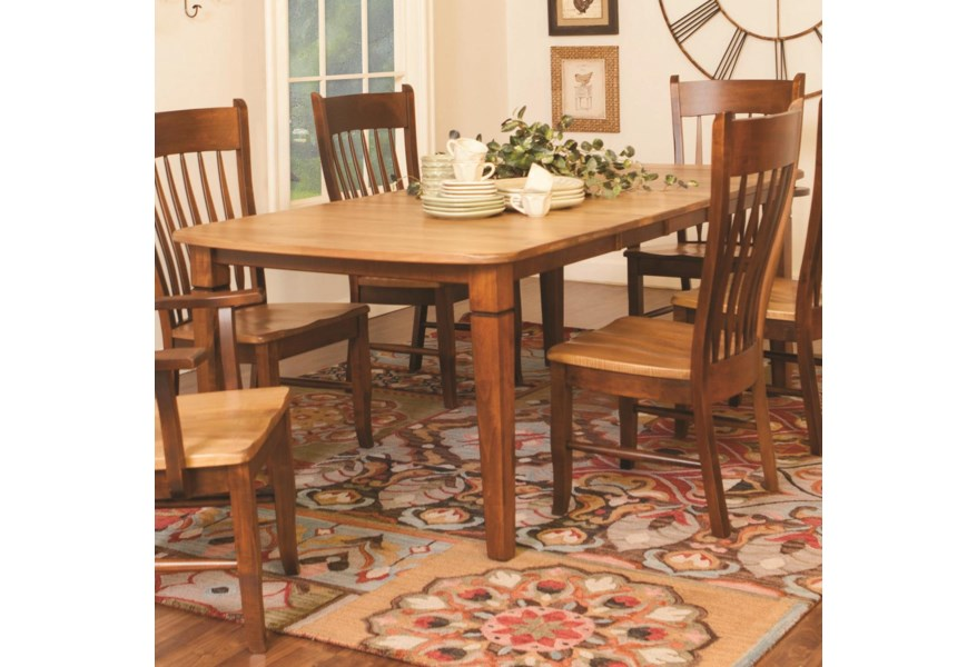 Daniels Amish Millsdale Millsdale Rectangular Dining Table ...