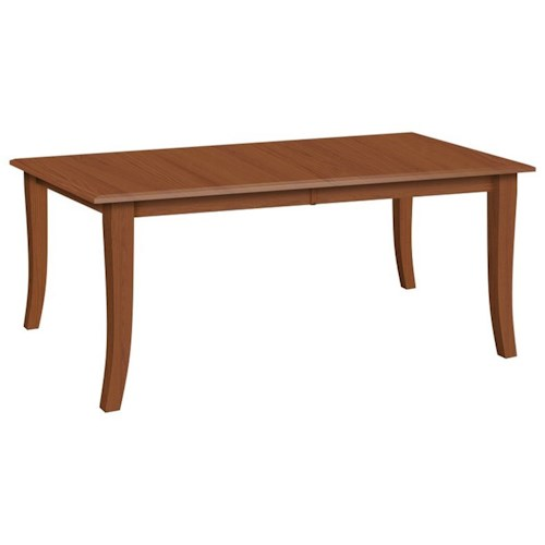 Daniel's Amish Tables Customizable Rectangular Dining Table with 2 Leaves