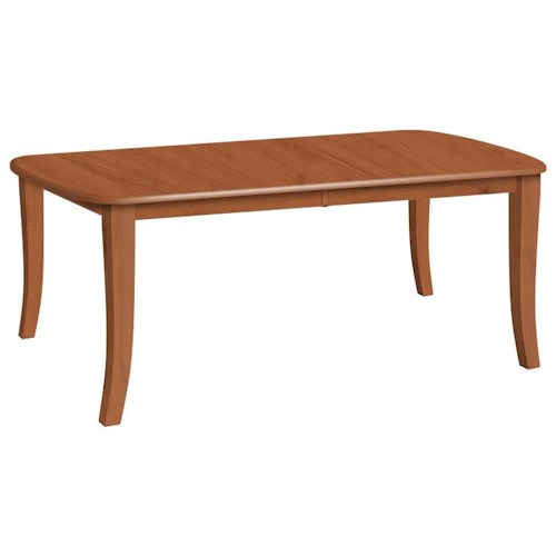 Daniel's Amish Tables Customizable Solid Wood Millsdale Rectangular Dining Table with Legs