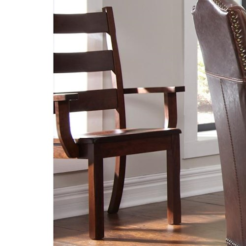 Daniel's Amish Westchester Naples Solid Wood Dining Arm Chair