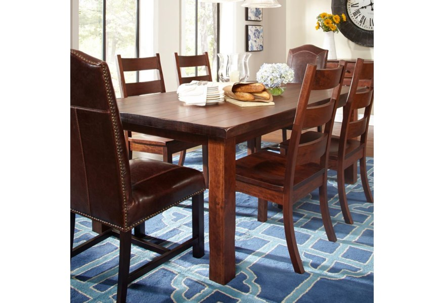 Daniel S Amish Westchester Solid Wood Dining Table Belfort Furniture Dining Tables