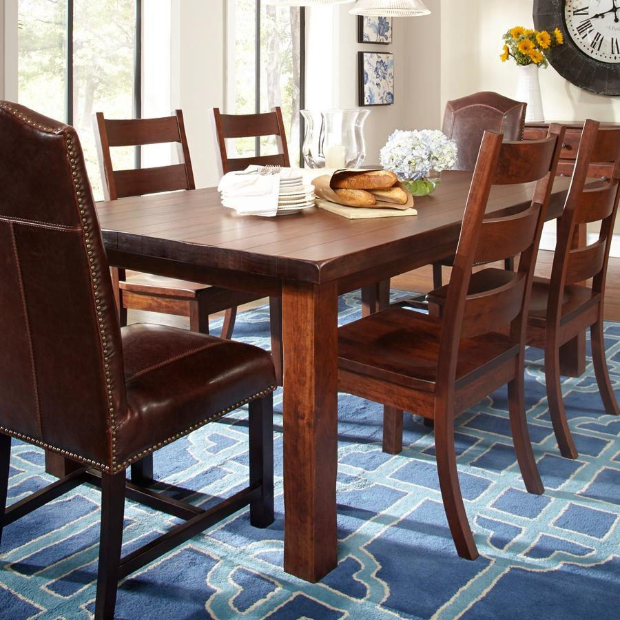 Danielu0027s Amish Westchester Solid Wood Dining Table