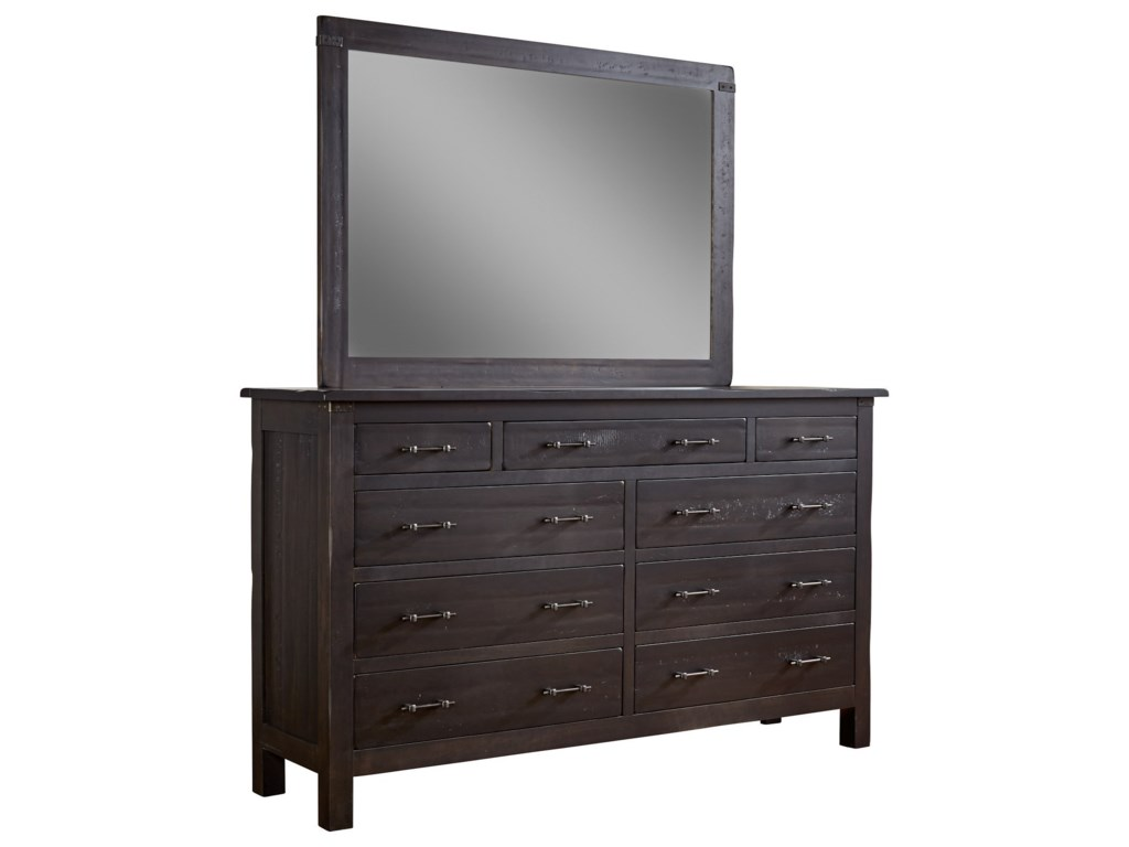 Daniel's Amish WildwoodDresser and Mirror Combo