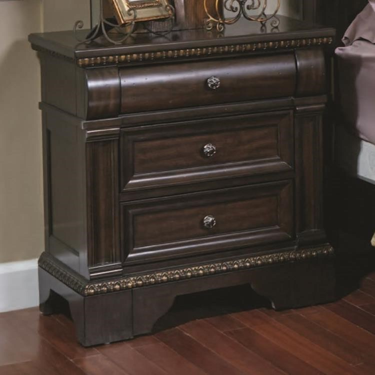 Davis Direct Chatsworth Traditional Nightstand With 3 Drawers | Royal  Furniture | Night Stands