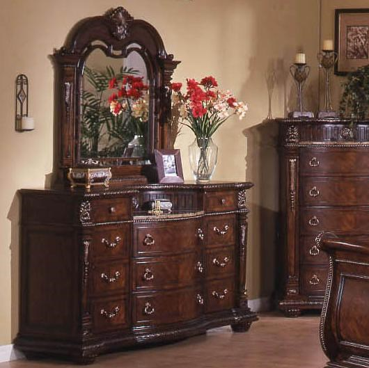 Direct Bedroom Furniture: Dresser With Hutch Mirror