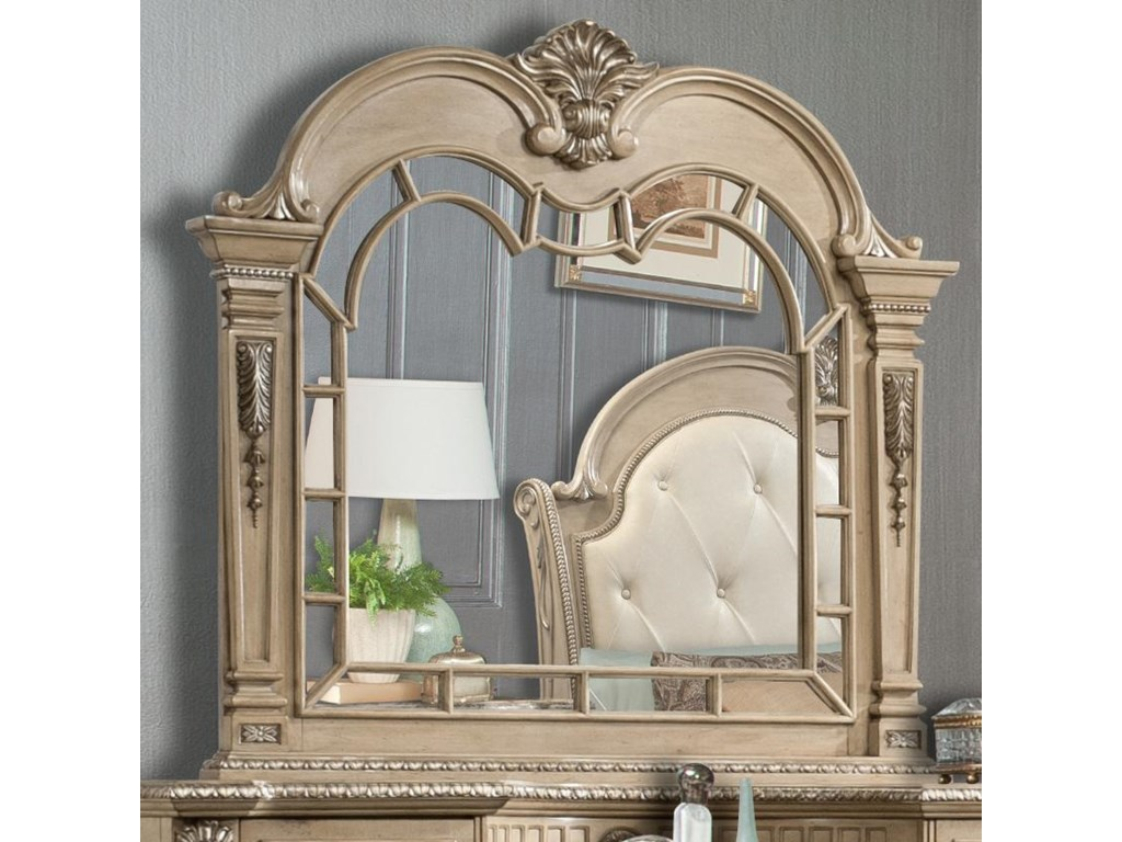 Holland House Monaco Traditional Scroll-Trimmed Mirror - Miskelly Furniture  - Dresser Mirrors
