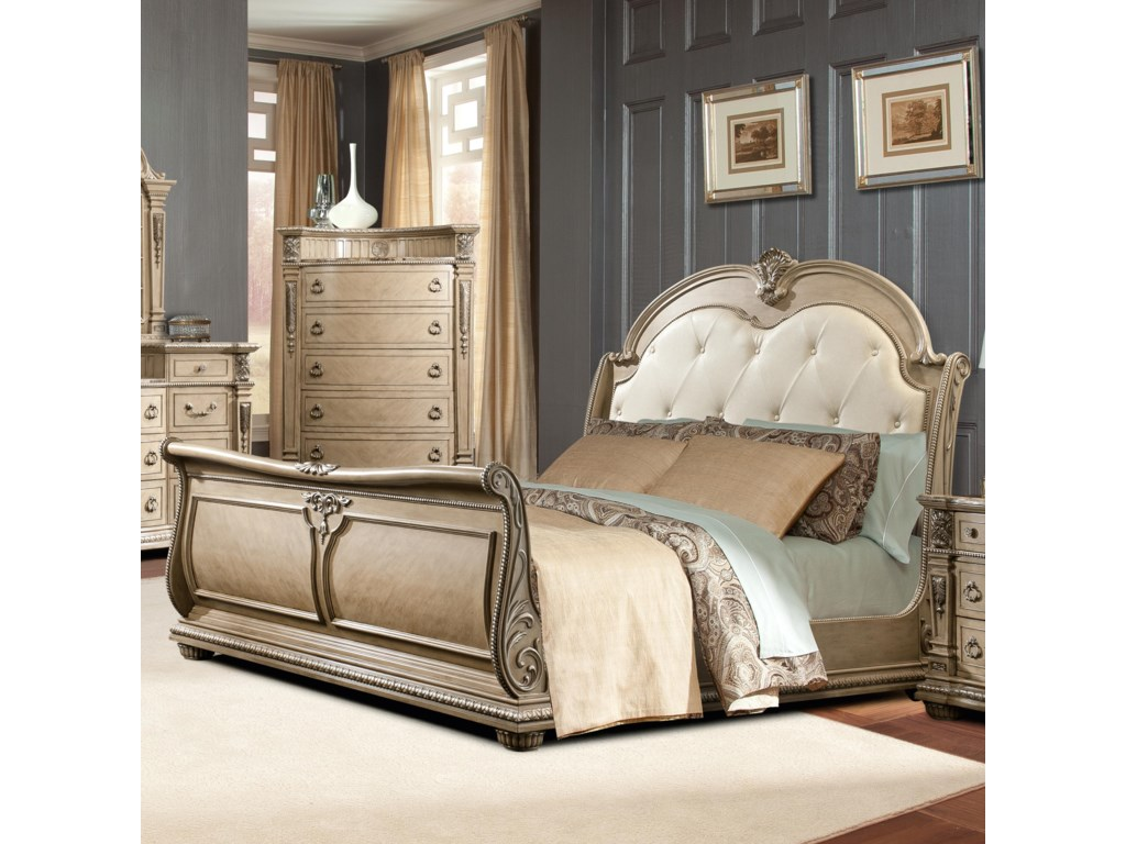 product art r gables cherry furniture sleigh a t size queen beds zm century traditional bed