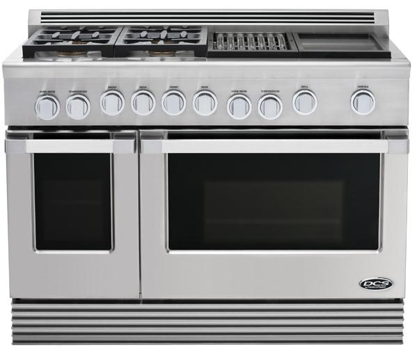 dcs rgu 484gg48 professional 4 burner gas range with griddle and rh furnitureappliancemart com Gas Stoves and Ovens DC's Double Wall Ovens