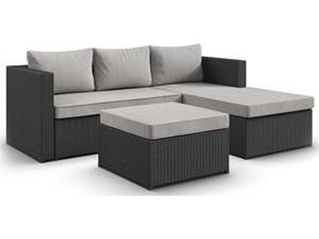 Northeast Factory Direct 3 Piece Outdoor SectionalSectional