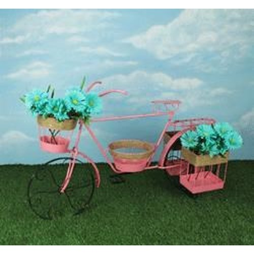 Rotmans Choice Accessories Pink Bicycle Planter