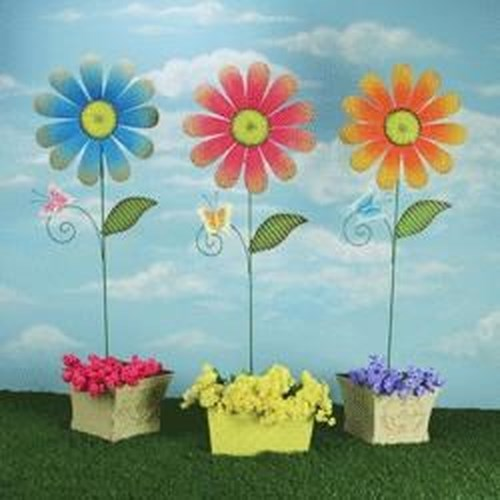 Rotmans Choice Accessories Butterfly Daisy Stake: Assorted Styles