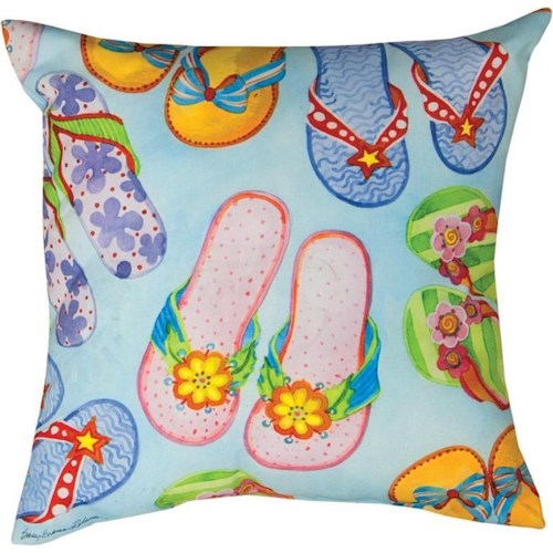 Rotmans Choice Accessories Flip-Flop Indoor/Outdoor Pillow