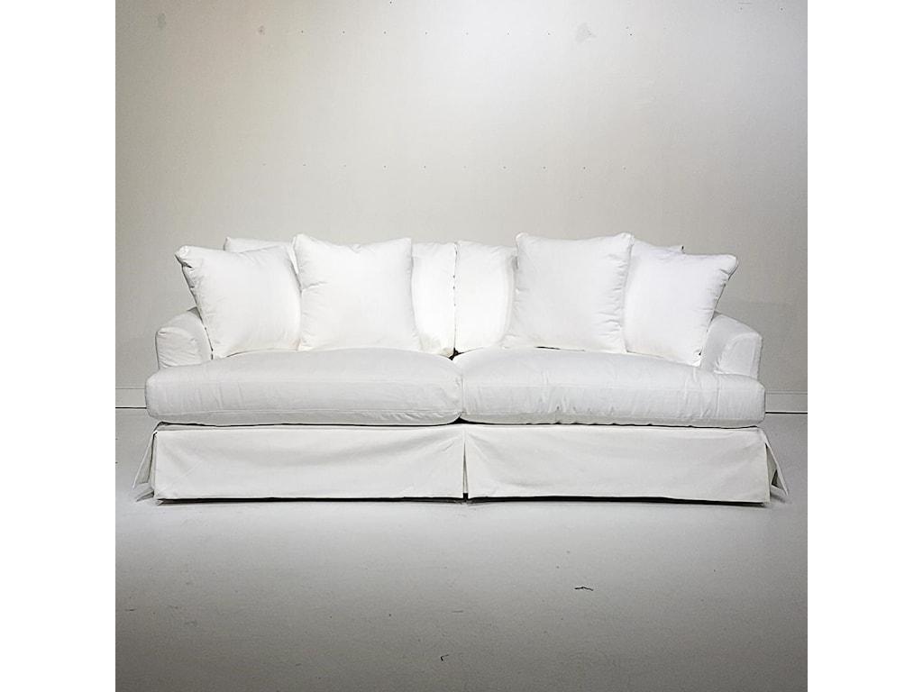 Dealer Brand Artisan Home UpholsteryWhite Slipcovered Sofa