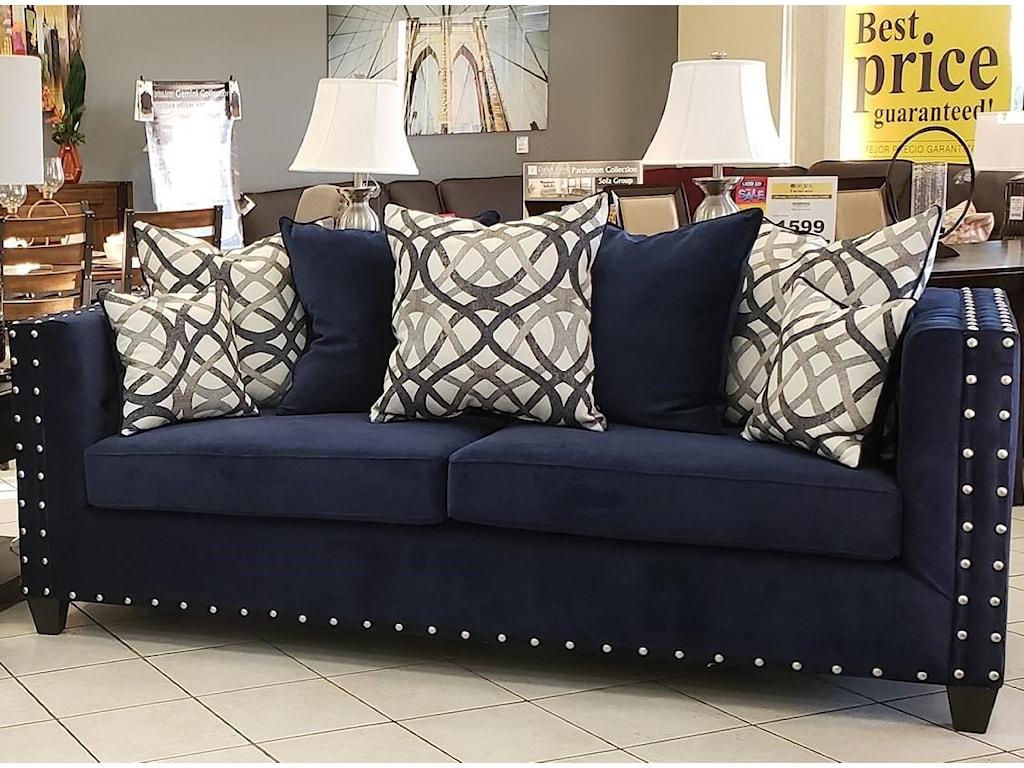 Del Sol Exclusive BellaHillStreet Navy Sofa