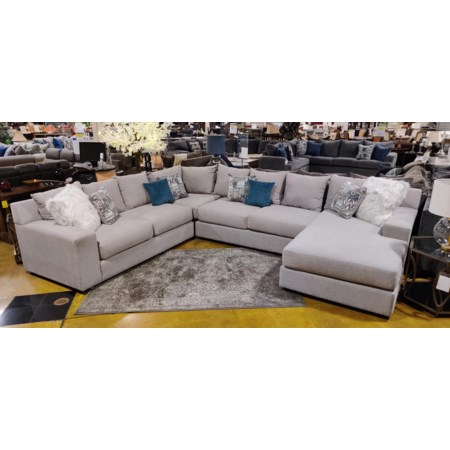 4pc Large Sectional RAF Chaise