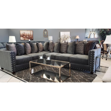 Left Tux 2pc Sectional BCO MS