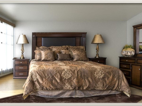 6pc Queen Bedroom Group with Metal base