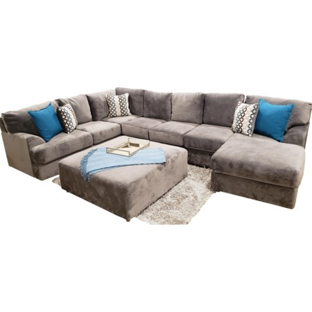 Shelie 3pc 7 Seats Sectional Jamba Granite
