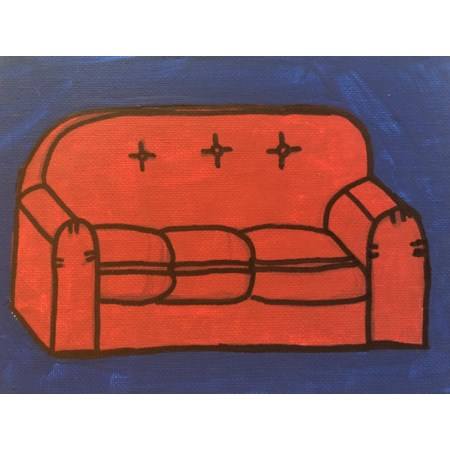 Simpsons Red Couch