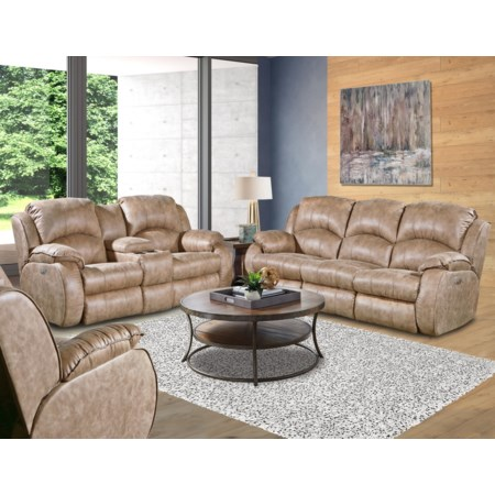 Power Dual Reclining Console Loveseat