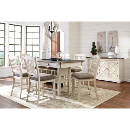 Classic 7 Piece Counter Height Dining Set